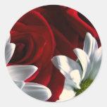 Daisies & Roses Classic Round Sticker