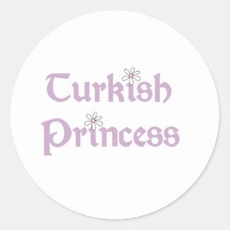 Daisies Turkish Princess Round Sticker