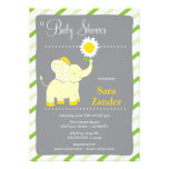 Daist Elephant  | Girl Baby Shower Invitation