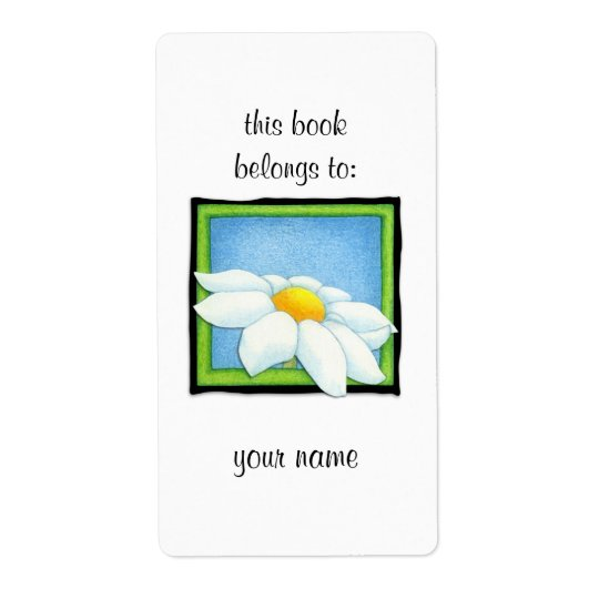 Daisy 2 Bookplate Label