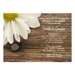 Daisy and Barn Wood Country Couples Wedding Shower Personalised Invite