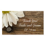 Daisy and Barn Wood Country Wedding Favour Tags Business Card Templates