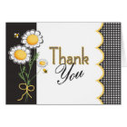 Daisy and Bubble Bee Thank You Card
