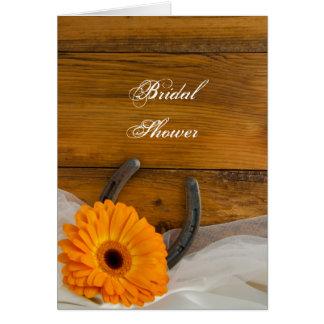 Daisy and Horseshoe Bridal Shower Invitation Card