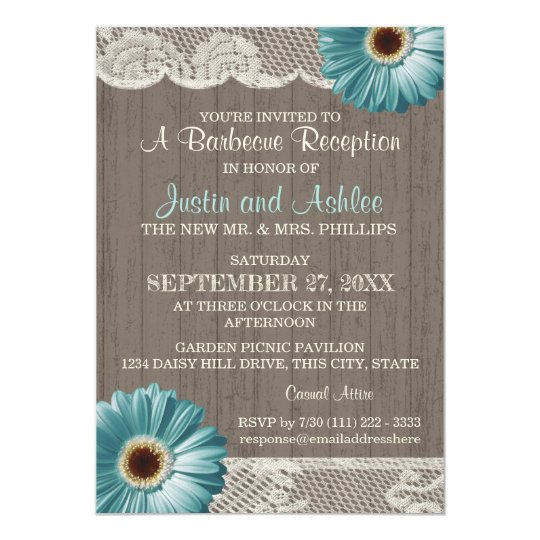 Rustic Daisy Wedding Invitations: Rustic Sunflower Daisy Wedding Invitation
