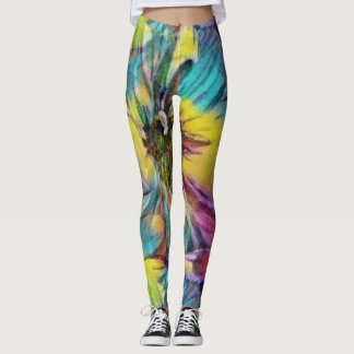 Daisy Aquarelle Leggings
