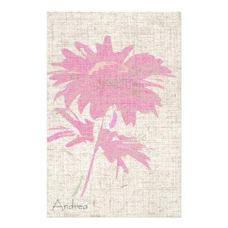 Daisy Art Linen Look Stationery