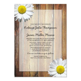 Daisy - Barn Wood - Wedding Invitations
