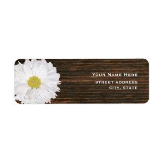 Daisy & Barnwood Address Label