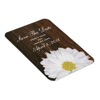 Daisy & Barnwood Save The Date Magnet
