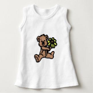 Daisy Bear Design Brown Dress