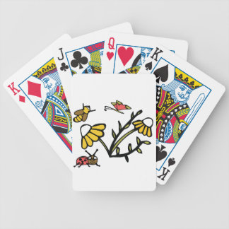 Daisy, Bee, Butterfly and Ladybug Bicycle Playing Cards
