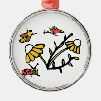 Daisy, Bee, Butterfly and Ladybug Christmas Ornament