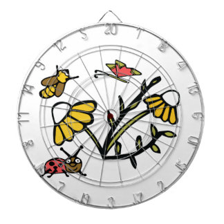 Daisy, Bee, Butterfly and Ladybug Dartboard