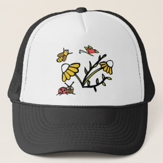 Daisy, Bee, Butterfly and Ladybug Trucker Hat