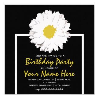 Daisy Birthday Party Invite