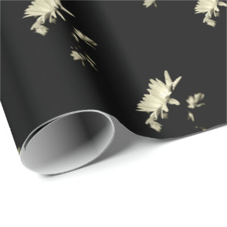 Daisy - Black and White Wrapping Paper