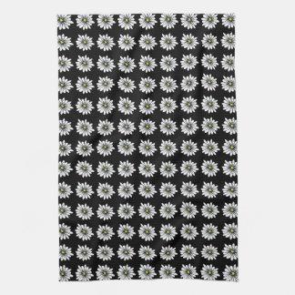 Daisy-blu - Black back Tea Towel