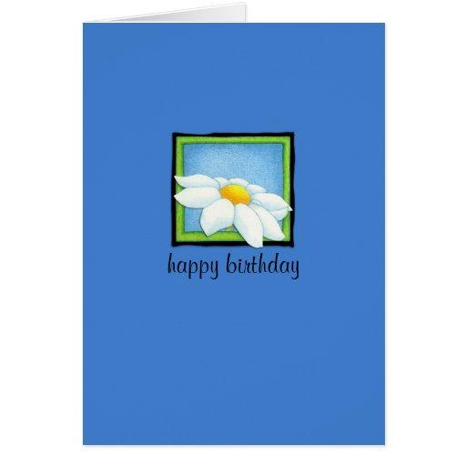 Daisy blue Birthday Card
