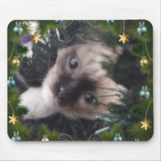 Daisy Blue Christmas Mousemat edition