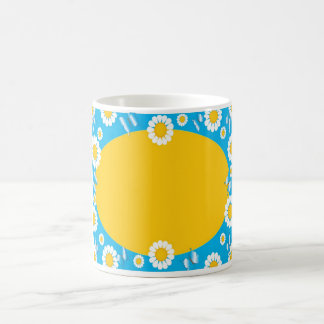 Daisy Border Coffee Mug