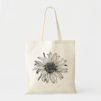 Daisy Botanical Flower Tote Bag