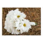 Daisy Bouquet & Hay - Country Wedding Invitation