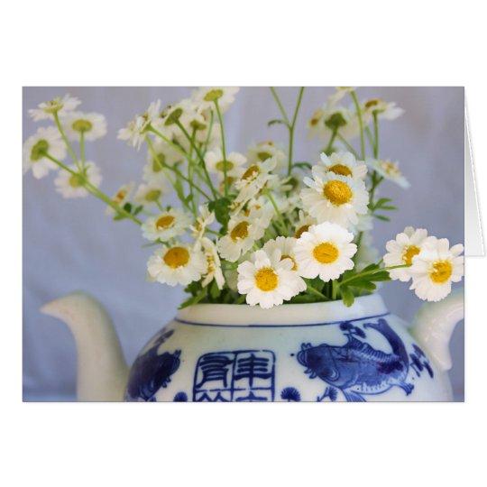 Daisy Bouquet in a Teapot Card
