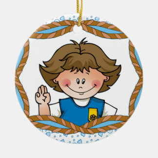 Daisy Brunette Christmas Ornament