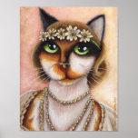 Daisy Buchanan Calico Cat Great Gatsby Roaring 20s Poster