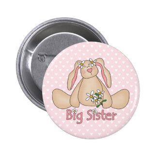 Daisy Bunny Big Sister 6 Cm Round Badge