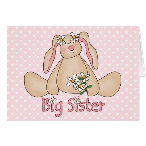 Daisy Bunny Big Sister Card