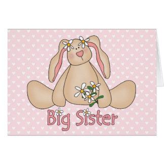 Daisy Bunny Big Sister Note Card