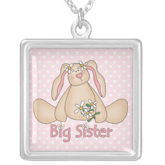 Daisy Bunny Big Sister Silver Plated Necklace