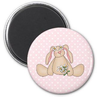 Daisy Bunny 6 Cm Round Magnet