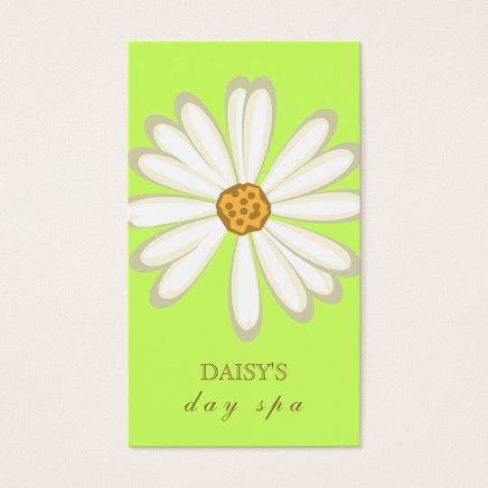 Daisy Business Card Soft Green