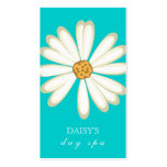 Daisy Business Card Turquoise Blue
