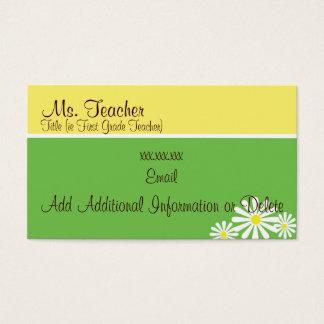 Daisy Cards - Teacher Business Cards