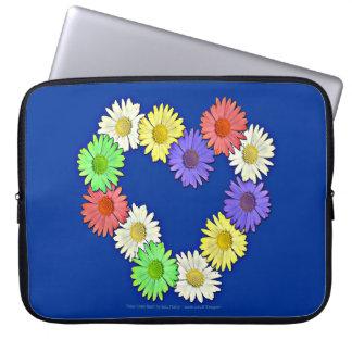 Daisy Chain Heart Neoprene Pouch Laptop Sleeve