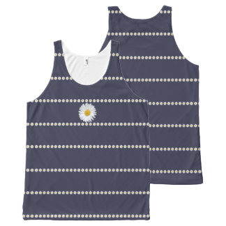Daisy Chain Photo Pattern Top All-Over Print Tank Top