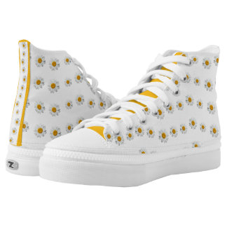 Daisy Chain ZIPZ Canvas High Top Sneakers