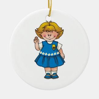 Daisy Christmas Ornament