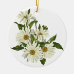 Daisy Cluster Christmas Tree Ornaments