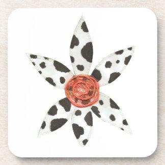 Daisy Cow Plastic Coasters