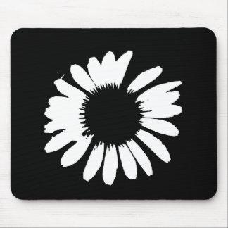 """Daisy Crazy"" - Black & White Daisy Mouse Mat"