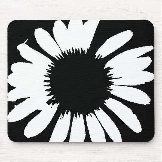 Daisy Crazy - Black & White Daisy Mouse Pad