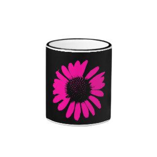 Daisy Crazy Hot Pink & Black Coffee Mug