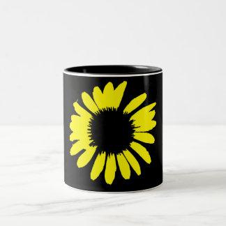 """""""Daisy Crazy"""" - Yellow Daisy Two-Tone Mug"""
