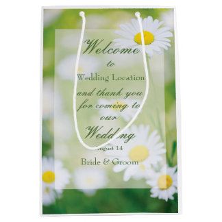 Daisy Daisies Flower Floral Summer Wedding Medium Gift Bag
