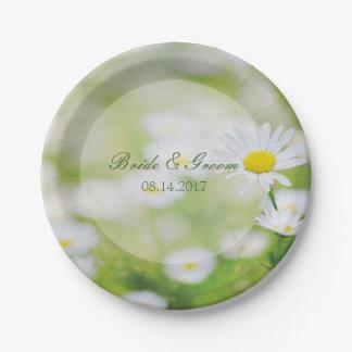 Daisy Daisies Flower Floral Summer Wedding Paper Plate